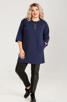 Платье-Туника 634 Luxury Plus (Темно-синий)