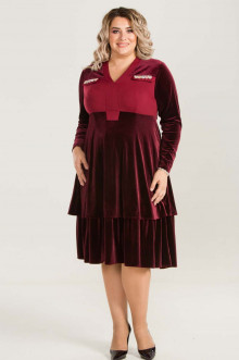 Платье 658 Luxury Plus (Бордовый)