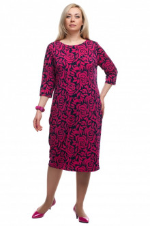 """Платье """"Олси"""" 1605029/3 ОЛСИ (Ярко-розовый)"""